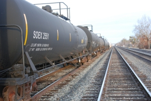 If the Valero Benicia proposal is approved, 100 oil cars a day will pass through Davis like these tank cars photographed on 2nd St. on Jan. 9, 2013.