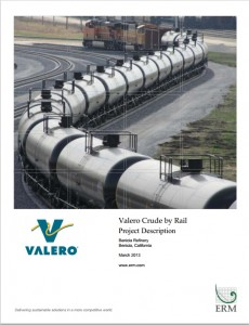 The proposed Valero rail terminal Project EIR will be released June 10 for public review.