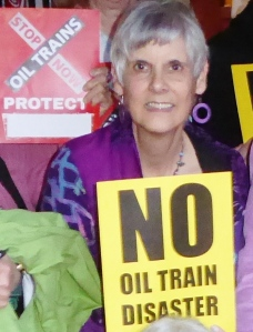 Carol Warren testified on the impacts of living very close to the train tracks in Dixon.